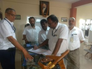 Aviation dignitary visits OFAA at Mysore